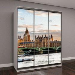 """Шкаф купе с фотопечатью """"Вестминстерский дворец в Лондоне вечером, Англия"""""""