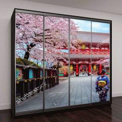 """Шкаф купе с фотопечатью """"гейши в традиционных японских кимоно """""""
