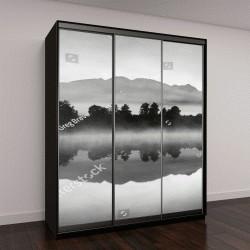 """Шкаф купе с фотопечатью """"Новая Зеландия в предрассветном тумане"""""""