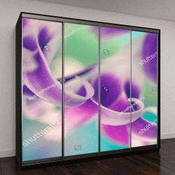 """Шкаф купе с фотопечатью """"Листья орхидеи """""""