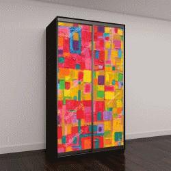 """Шкаф купе с фотопечатью """"красочные изображения абстрактной живописи на холсте"""""""