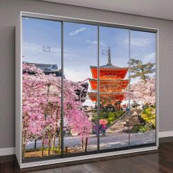 """Шкаф купе с фотопечатью """"сезон вишни весной в Киото, Япония"""""""