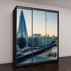 """Шкаф купе с фотопечатью """"Воздушных вид на Темзу и Лондон-Сити"""""""
