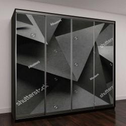 """Шкаф купе с фотопечатью """"Геометрические фигуры из бумаги, абстрактный фон """""""