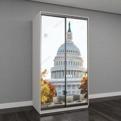 """Шкаф купе с фотопечатью """"Вертикальный вид на здание Конгресса США """""""