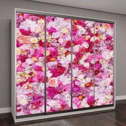 """Шкаф купе с фотопечатью """"Красивые цветы в качестве фона"""""""