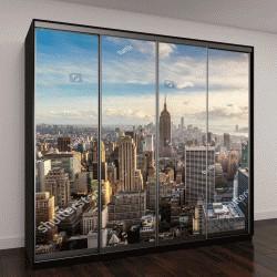 """Шкаф купе с фотопечатью """"Нью-Йорк Skyline"""""""