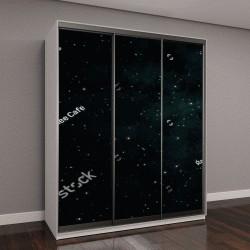 """Шкаф купе с фотопечатью """"поля звезд в галактике"""""""