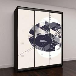 """Шкаф купе с фотопечатью """"Абстрактный геометрический фон с кругом"""""""