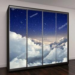"""Шкаф купе с фотопечатью """"Красивый фон неба с большими облаками """""""