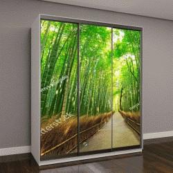 """Шкаф купе с фотопечатью """"Бамбуковый лес Арасияма в Киото, Япония"""""""