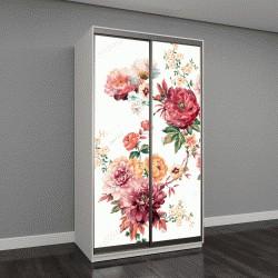 """Шкаф купе с фотопечатью """"листья и цветы, арт-дизайн"""""""