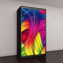 """Шкаф купе с фотопечатью """"красочные абстрактные линии"""""""