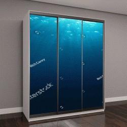 """Шкаф купе с фотопечатью """"Подводный синий фон моря"""""""