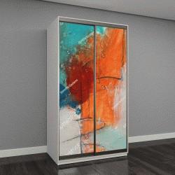 """Шкаф купе с фотопечатью """"Текстурная абстрактная живопись"""""""