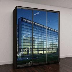 """Шкаф купе с фотопечатью """"офисное здание в 3D"""""""