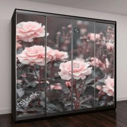"""Шкаф купе с фотопечатью """"Розовые розы в саду """""""