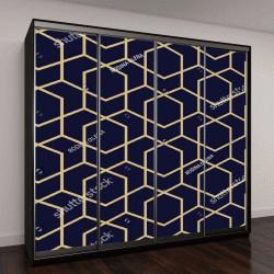 """Шкаф купе с фотопечатью """"Абстрактный геометрический узор из линий, ромбов на фоне бесшовные векторные"""""""