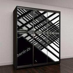 """Шкаф купе с фотопечатью """"Городская геометрия, вид стеклянного здания"""""""