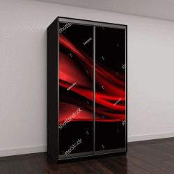 """Шкаф купе с фотопечатью """"Абстрактные векторные красный фон волны"""""""