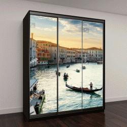 "Шкаф купе с фотопечатью ""Гранд-Канал в Венеции на закате, Италия"""