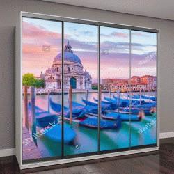 """Шкаф купе с фотопечатью """"Гранд-Канал в Венеции, Италия с базиликой Санта-Мария делла Салюте в сумерках"""""""