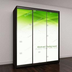 """Шкаф купе с фотопечатью """"Абстрактный зеленый цвет, современный дизайн фона"""""""