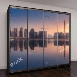 """Шкаф купе с фотопечатью """"Мистический панорамный вид на Дубай """""""
