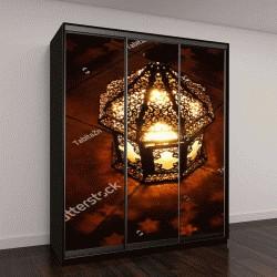 """Шкаф купе с фотопечатью """"Арабский декоративный фонарь с горящей свечой """""""