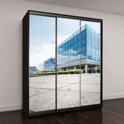 """Шкаф купе с фотопечатью """"дорога в офисное здание в Чэнду"""""""