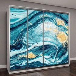 """Шкаф купе с фотопечатью """"Абстрактный океан """""""