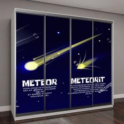 """Шкаф купе с фотопечатью """"Векторные объекты космического пространства """""""