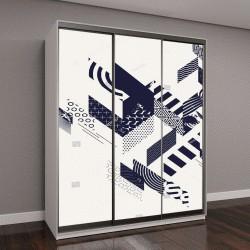 """Шкаф купе с фотопечатью """"Абстрактное искусство фон с геометрических элементов"""""""