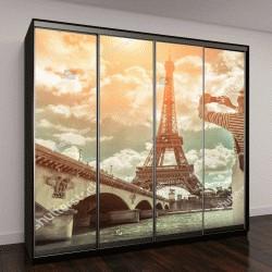 """Шкаф купе с фотопечатью """"селфи рядом с Эйфелевой башней в Париже """""""