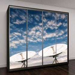 """Шкаф купе с фотопечатью """"спутниковые антенны в небо"""""""