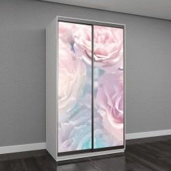 """Шкаф купе с фотопечатью """"красивые цветы, сделанные с цветными фильтрами"""""""