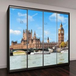 """Шкаф купе с фотопечатью """"Вестминстерский дворец и Биг-Бен, Лондон, Великобритания"""""""
