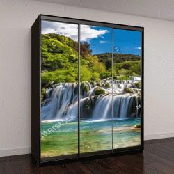 """Шкаф купе с фотопечатью """"Красивый водопад в национальном парке Крка Хорватия"""""""