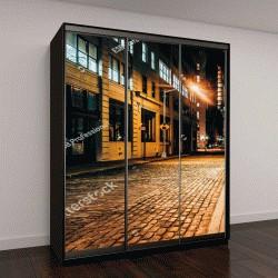 """Шкаф купе с фотопечатью """"Аллеи в ночное время, в Бруклине, Нью-Йорк"""""""