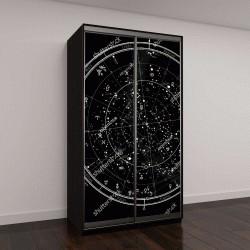 """Шкаф купе с фотопечатью """"Астрологическая карта звездного неба Северного полушария"""""""