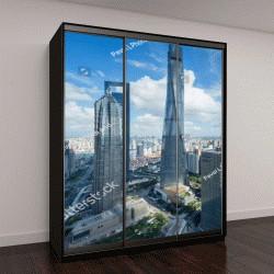 "Шкаф купе с фотопечатью ""башня Цзинь Мао, Шанхай. """