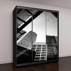 """Шкаф купе с фотопечатью """"современная архитектура с высокой контрастностью, черно-белый тон"""""""