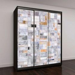 """Шкаф купе с фотопечатью """"Абстрактная живопись, прямоугольники"""""""