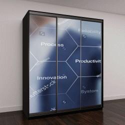 """Шкаф купе с фотопечатью """"Презентация об автоматизации в качестве инноваций для повышения производительности"""""""