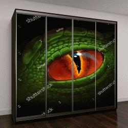 """Шкаф купе с фотопечатью """"Зеленый глаз дракона"""""""