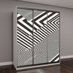 """Шкаф купе с фотопечатью """"Абстрактный полосатый фактурный геометрический узор """""""