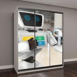 """Шкаф купе с фотопечатью """"Робототехника бизнес-направлений, технологии ИИ"""""""