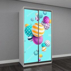 """Шкаф купе с фотопечатью """"Разноцветные декоративные шарики"""""""