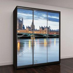 """Шкаф купе с фотопечатью """"Лондон - Биг Бен и здание парламента, Великобритания"""""""