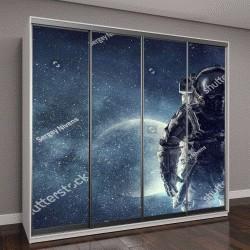 """Шкаф купе с фотопечатью """"Приключения космонавта"""""""